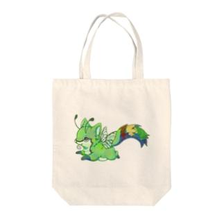 スカシギツネ(オオスカシバ×キツネ) Tote bags