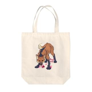 タテガミオオカミ Tote bags