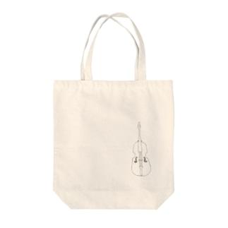 コントラバス Tote bags