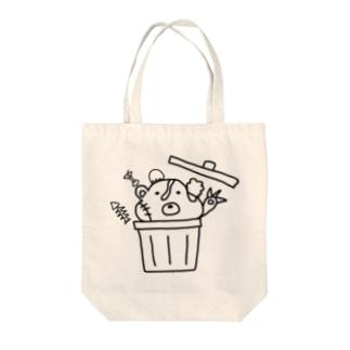 捨てクマ Tote bags