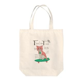 スケボーネコ Tote bags