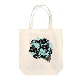 黒紫陽花 Tote bags