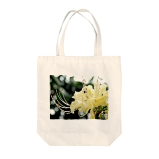 白花曼珠沙華 Tote bags