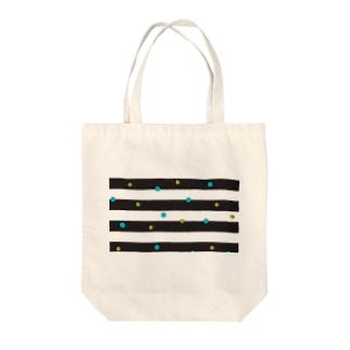 ボーダードット Tote bags