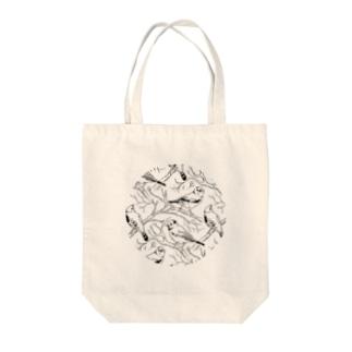 トリガラプリント Tote bags