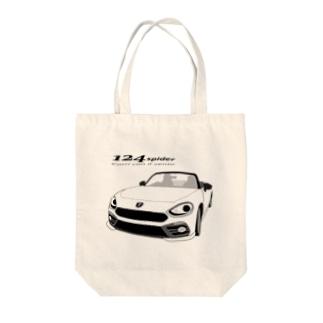 124 cotona-spider Tote bags