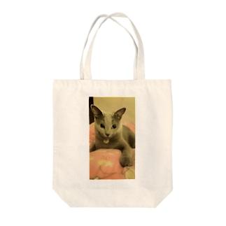 ほんわかモイコ Tote bags