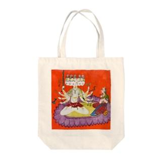 シヴァを崇めるパールヴァティ Tote bags