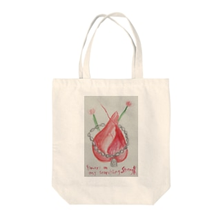 Flowers on my scorching strength Tote bags