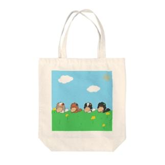 ビスケッティきゃばとーと(集合) Tote bags