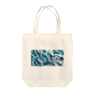 泡の重なりのフリル Tote bags