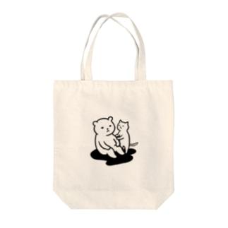 思案するクマ Tote bags