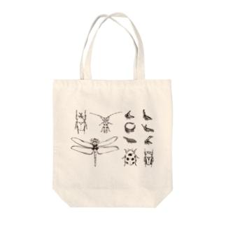 昆虫図鑑 Tote bags