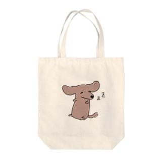 ねむねむダックスちゃん Tote bags