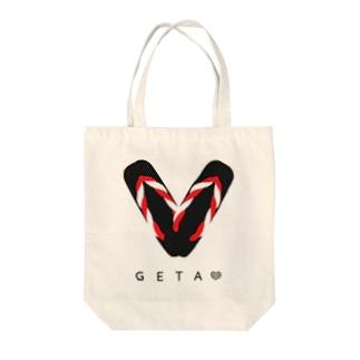 GETA LOVE Tote bags