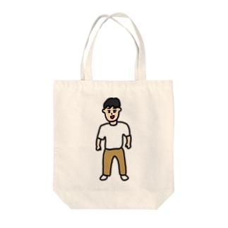 その男、穏和につき Tote bags
