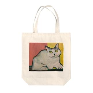 微笑み猫 Tote bags