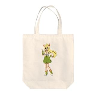 可愛い娘っ子シリーズ Tote bags