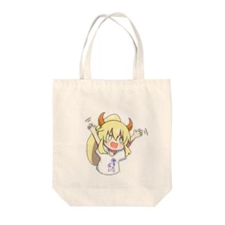 働かない娘っ子シリーズ Tote bags