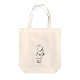 おやっさんのむすこ Tote bags