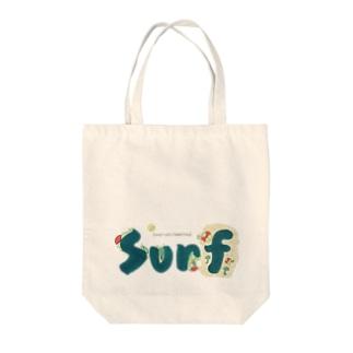 Surf Beach Tote bags