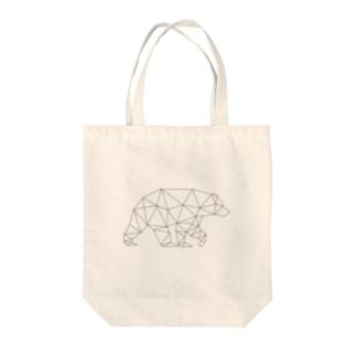 【ポリゴン動物 クマ】 Tote bags
