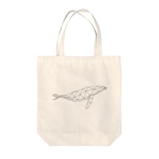 【動物ポリゴン クジラ】 トートバッグ