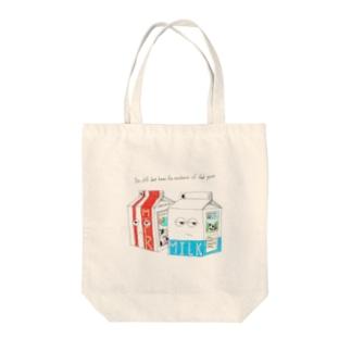 牛乳パック Tote bags