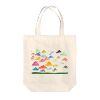 虹色のやね Tote bags