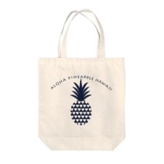 パイナップル(heart)035 Tote bags