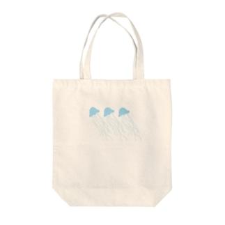 涼しげクラゲちゃん Tote bags