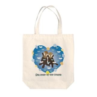 手つなぎラッコ Tote bags