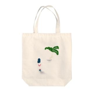 turnip Tote bags