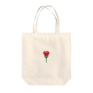 一輪の薔薇 Tote bags