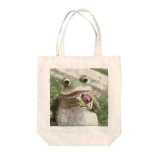 カエル2 Tote bags