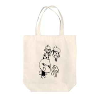 4人の山賊 Tote bags