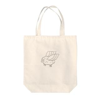 飛ぶ羊 Tote bags