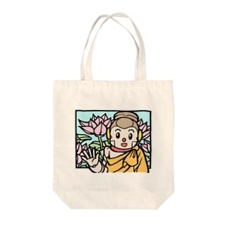 紫雲山 大泉寺の切り絵風シャカもん Tote bags