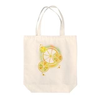 フレッシュオレンジ Tote bags