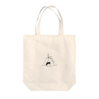 きゃんぷってぃ Tote bags