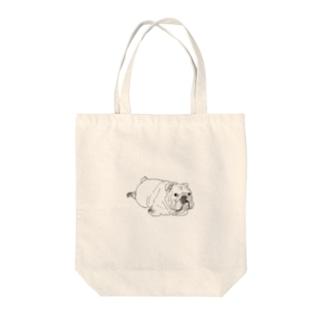 OGNdesignの犬 ブルドッグ  NO.7 Tote bags