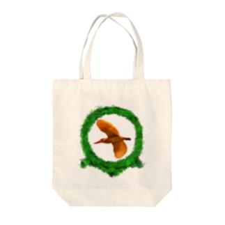 アカショウビンのアカシ Tote bags