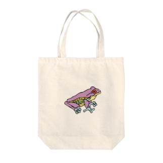 OGNdesignの蛙 カエル NO.8 Tote bags