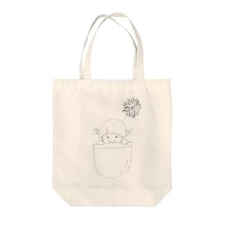 mihomasiroのみほちゃんトート Tote bags