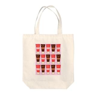 手描きのエトセトラのチューブ(練乳、チョコ) Tote bags