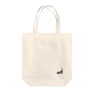 灰色猫おもちは、伸びてる Tote bags