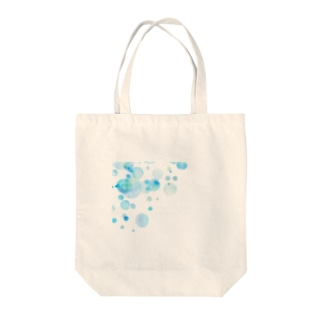 水彩ドット Tote bags