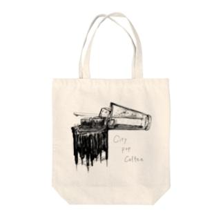 City Pop Coffee Tote bags