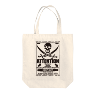AURA_HYSTERICAのATTENTION Tote bags