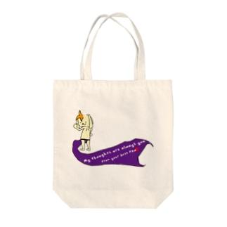 紫のフンドシの兎ver3 Tote bags